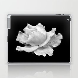 White Rose On Black Laptop & iPad Skin
