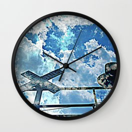 A Place In The Clouds Wall Clock