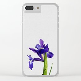 Iris Still Life, Flower Photography Clear iPhone Case