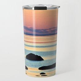 Circle of Rocks and the Sea at Dusk Travel Mug