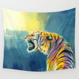 Shine Fearlessly - Tiger portrait Wall Tapestry
