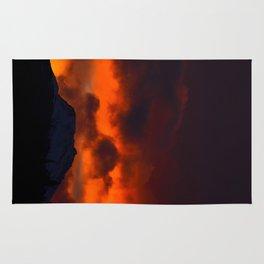 Fire Red Sunrise Rug