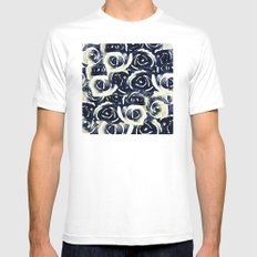 roses in deep blue Mens Fitted Tee MEDIUM White
