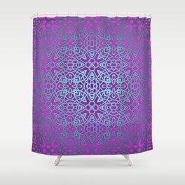 70's style Celtic Knotwork V2 Shower Curtain