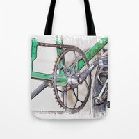 pushing daisies Tote Bags featuring Pushing It by Paul & Fe Photography