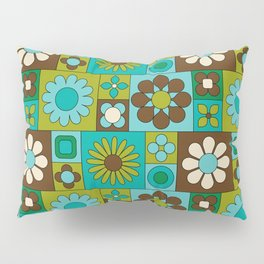 Mod Geometric Flower Pattern Pillow Sham
