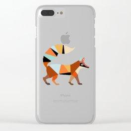 FOX ORIGAMI Clear iPhone Case