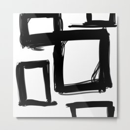 Squares Without a Care Metal Print