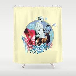 Winter Goddess Shower Curtain