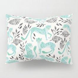Cheetah Collection – Mint & Black Palette Pillow Sham