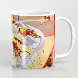 Vintage Bicycle Circus Act Coffee Mug
