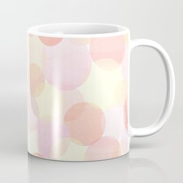 Pink and coral-red dots overprint pattern Coffee Mug