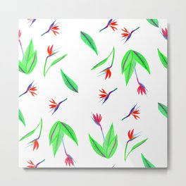 Tropical Strelitzia Metal Print