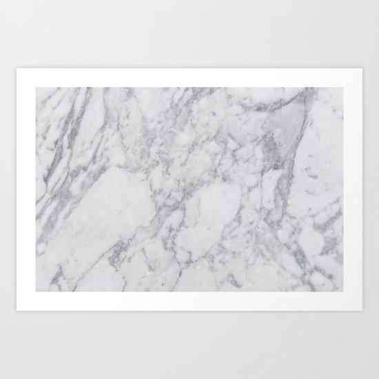 White Marble Art Print