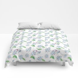 Borage Flowers Comforters