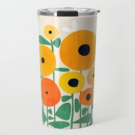 Sunflower and Bee Travel Mug