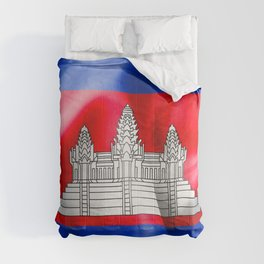 Cambodia Flag Comforters