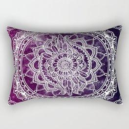 Violet Flower Mandala Rectangular Pillow