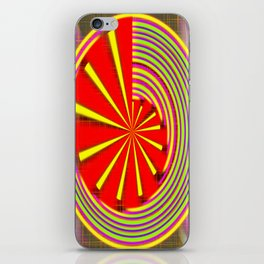 spinning abstraction iPhone Skin