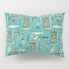 Tropical Tiki - Aqua Pillow Sham