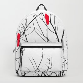 Artistic Bright Red Birds on Tree Branches Backpack