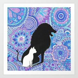The lion's strength ! Art Print