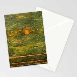 Square (Green Abstract) Stationery Cards