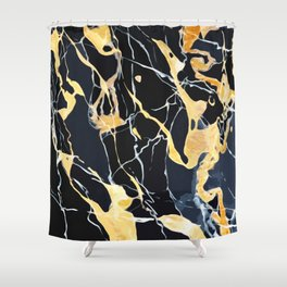 Black and gold marble Shower Curtain