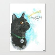 Black Cat-2 Canvas Print