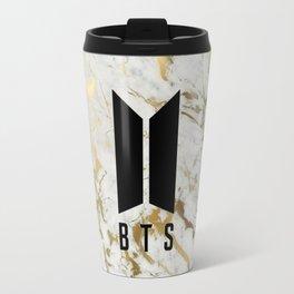 Abstract gold bts Travel Mug