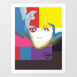 Painted face Art Print