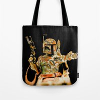 boba Tote Bags featuring Boba by Robotic Ewe