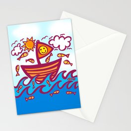 LUCKY FISHING DAY Stationery Cards