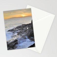 Orange sunset at the sea Stationery Cards