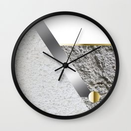 Light Stone Cubism Wall Clock