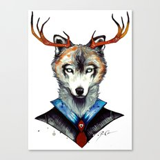 -City Wolf- Canvas Print