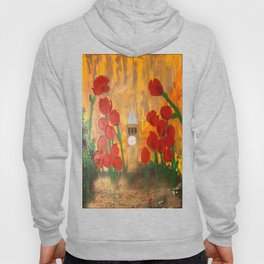 150 Years of CU - An Alumni Anniversary Tribute with Red Tulip Flowers Hoody
