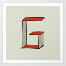 Letter G - Alphabet  Art Print