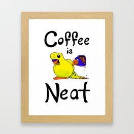 Coffee is Neat Framed Art Print