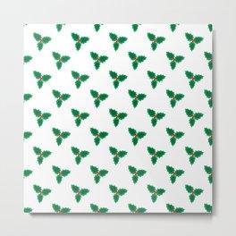 Mistletoe - green and red Metal Print