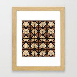 Mud cloth diamonds Framed Art Print