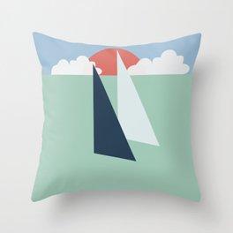 Regatta pastel Throw Pillow