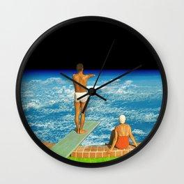Jump in clouds Wall Clock