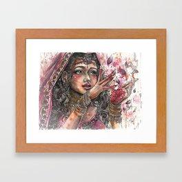 Goddess Lakshmi Framed Art Print
