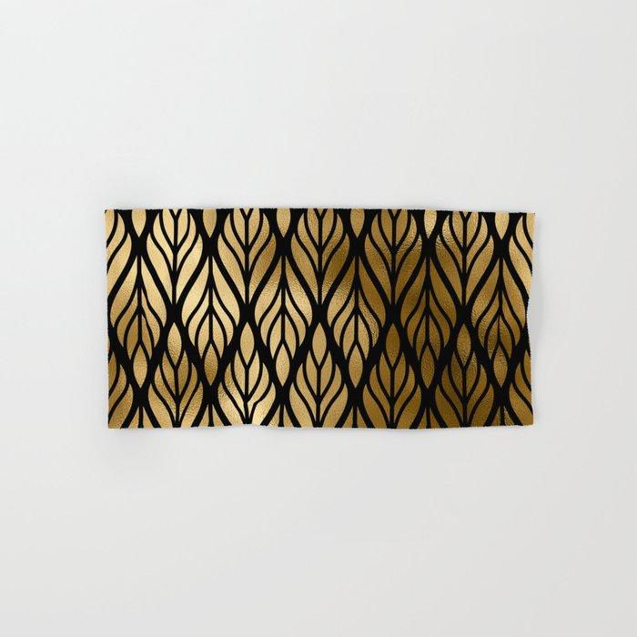 Havana Sultry Night Gold and Black Art Deco Hand & Bath Towel
