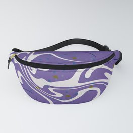 Violet Marbled Waves Swirled Effect Design Fanny Pack