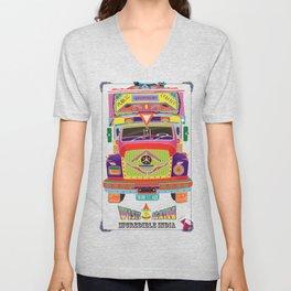 Indian Truck Art Unisex V-Neck