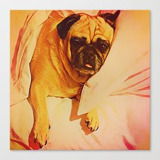 PUG LOVE: Will you bring me breakfast in bed? Canvas Print