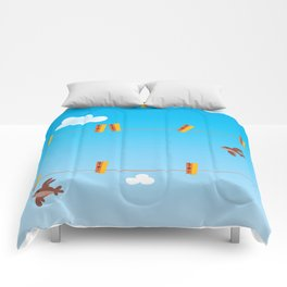 Clouds and Birds Comforters