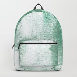 Dark sea green vague watercolor Backpack